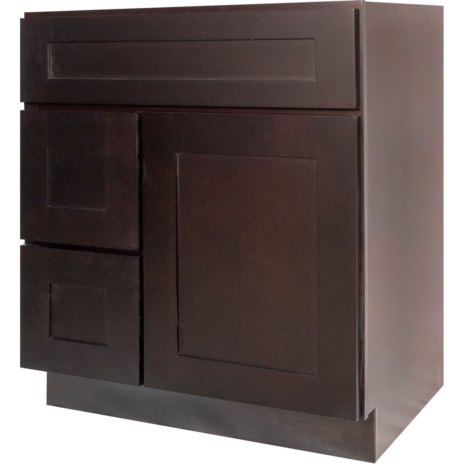 30 Inch Bathroom Vanity Single Sink Cabinet In Shaker Espresso Dark Brown With Soft Close Drawers 30 Inch Bathroom Vanity Bathroom Vanity Cabinets Brown Bathroom