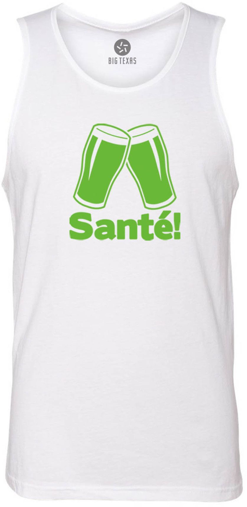 Cheers in French (Green) Tank-Top T-Shirt