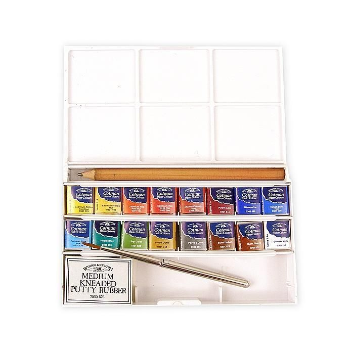 Winsor Newton Deluxe Sketchers Pocket Box Cotman Watercolor Set