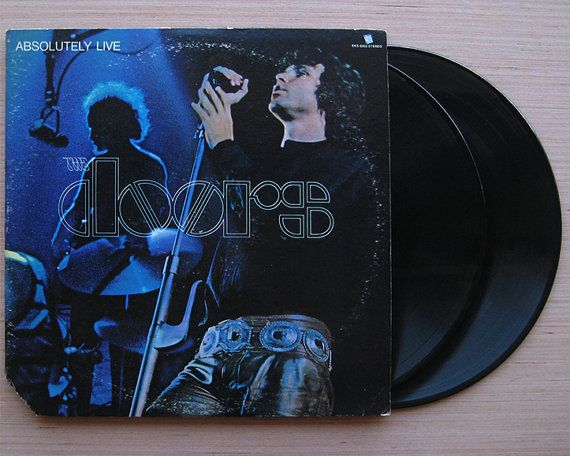 The Doors  Absolutely Live  Double Vinyl Record LP Gatefold Cover. Original 1970 Release & The Doors
