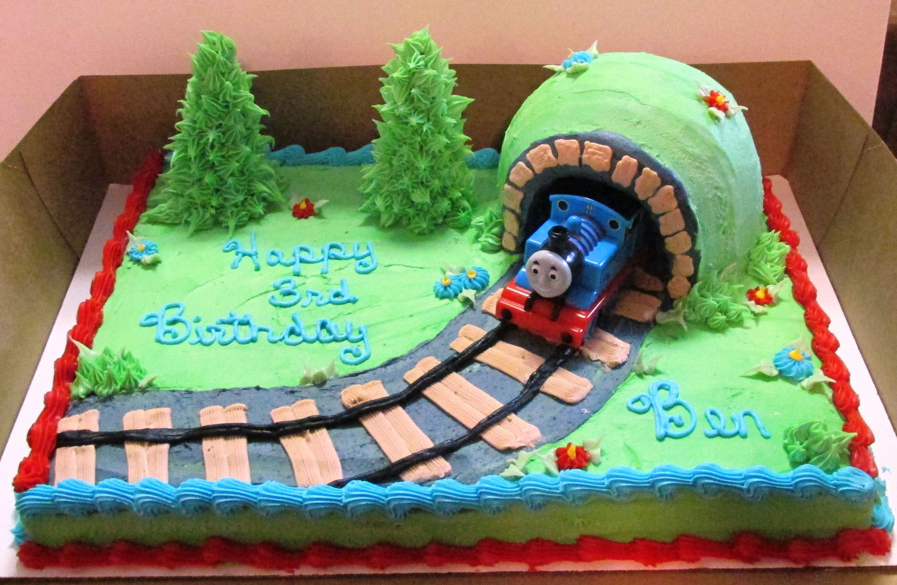 Thomas The Train 1 2 Sheet Cake Birthday Sheet Cakes 3rd Birthday Cakes Thomas Train Cake