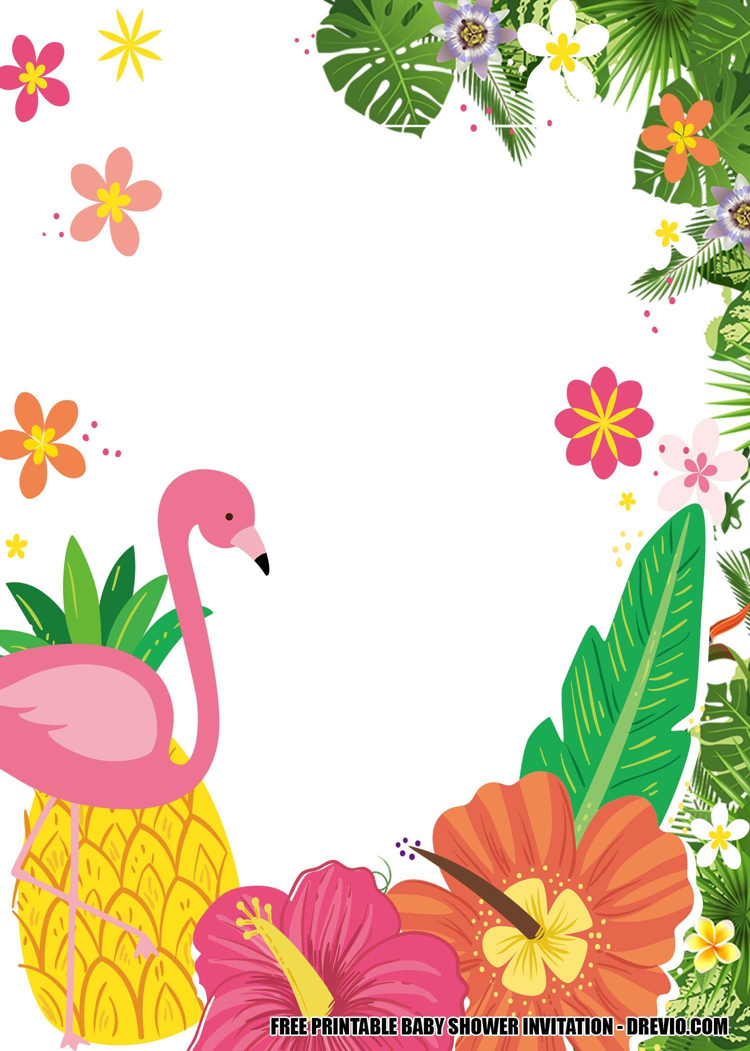 16 Free Flamingo Invitations Templates Downloadable For Any Occasions Flamingo Invitation Free Printable Baby Shower Invitations Printable Baby Shower Invitations