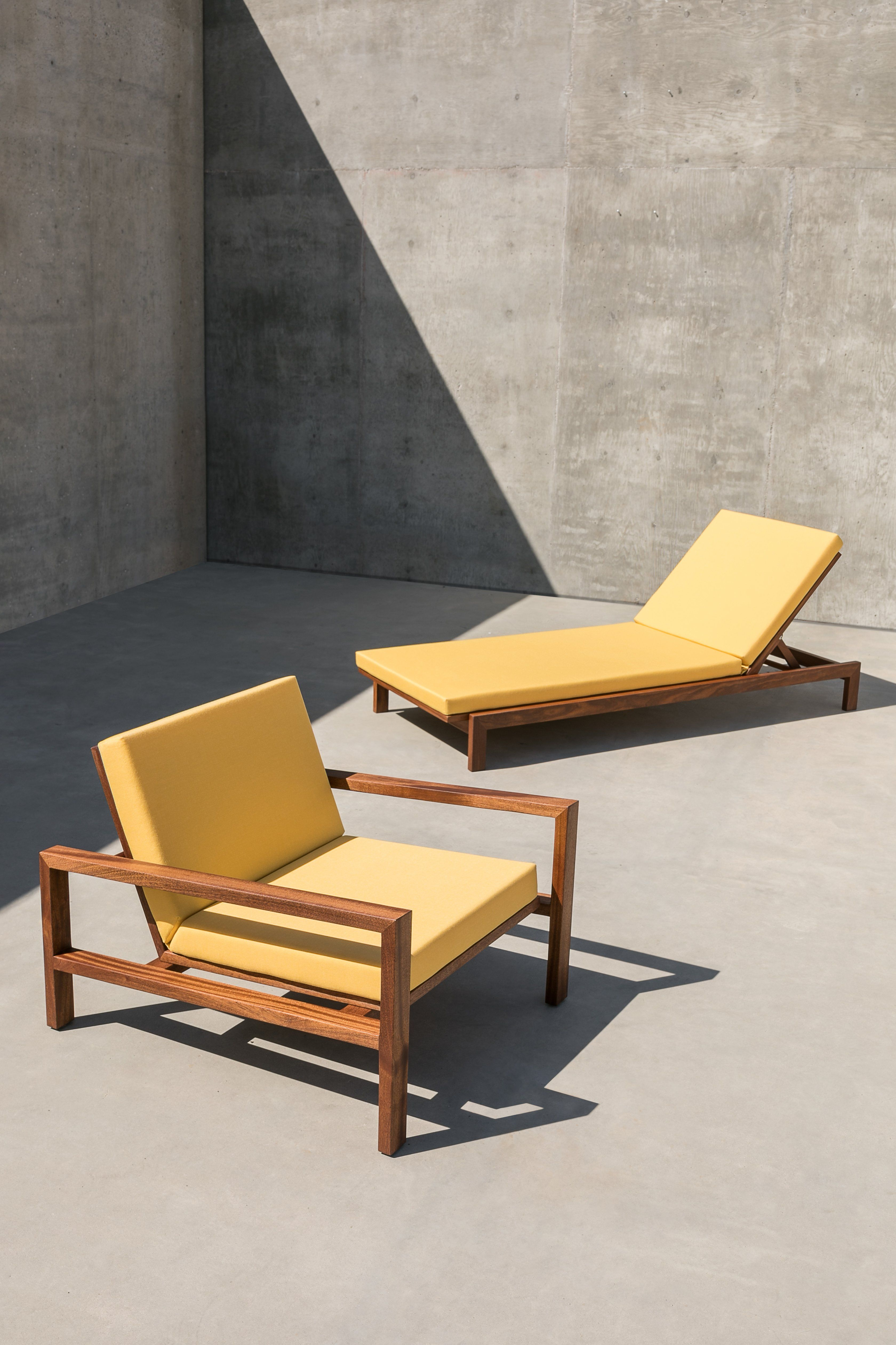 Case Study Furniture Solid Wood Chaise And Lounge Chair Bundle Pack Case Study Furniture Furniture Wood Lounge Chair