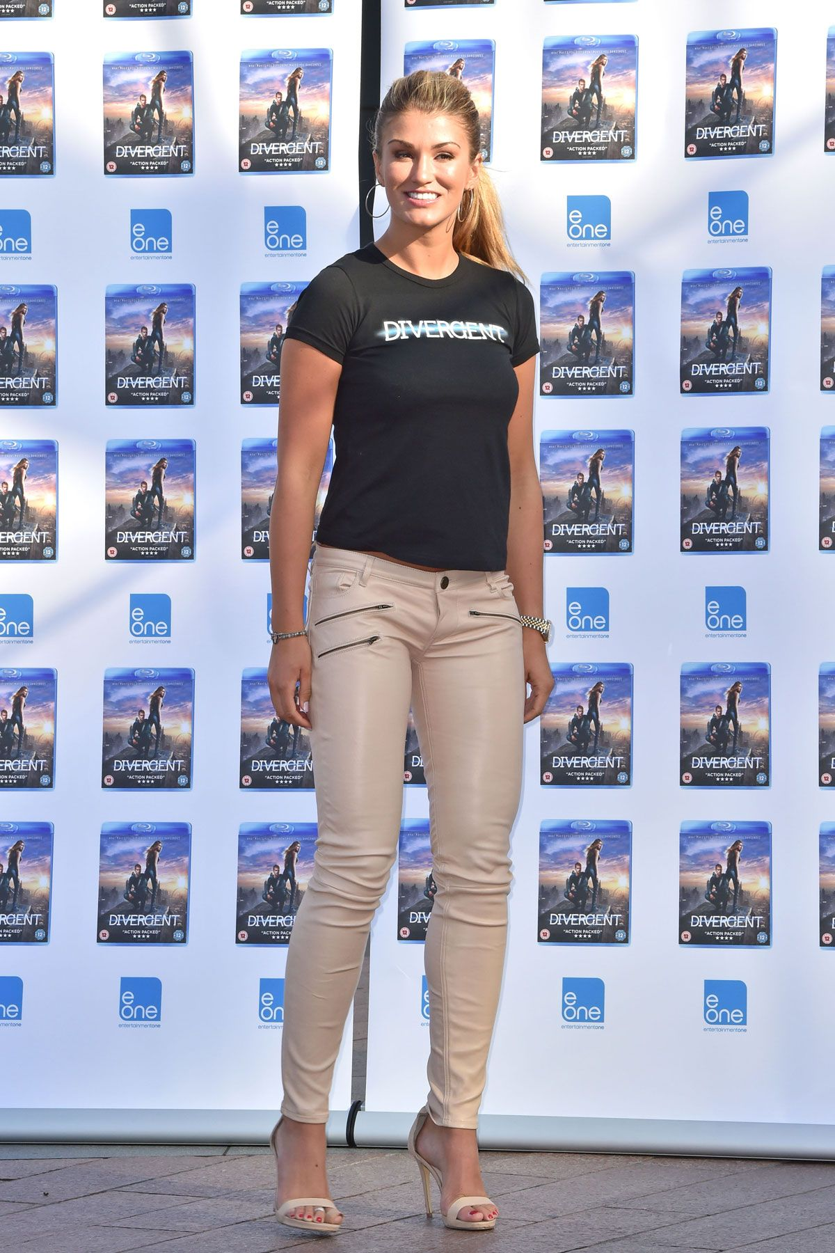 29d28b68112f Amy Willerton attends Divergent DVD Launch Photocall   Leather Favs ...