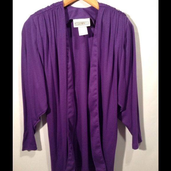 Vintage - Peter Popovich Purple Open Cardigan Made in USA , purple open cardigan. Excellent condition! 50% cotton 50% polyester. Peter Popovitch Tops