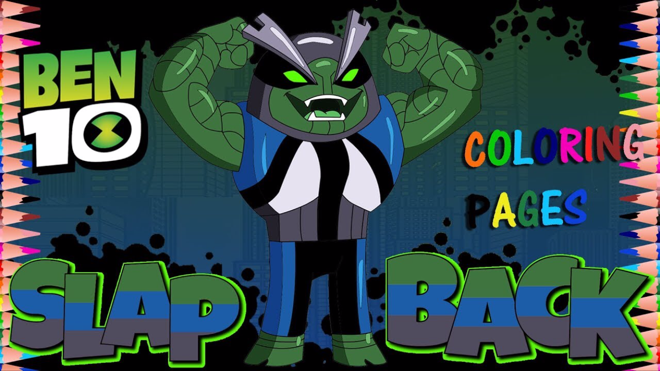New Cartoon Network Reboot Ben 10 Slapback Fun Coloring