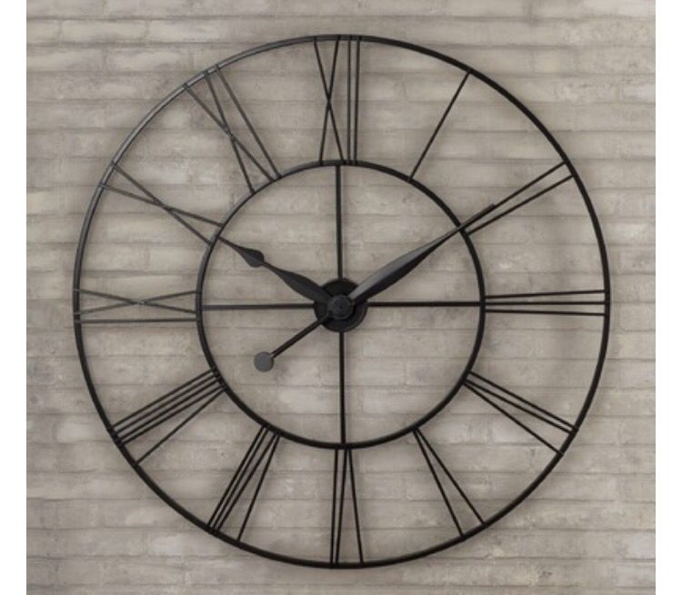 Rh Iron Clock Over Fireplace Relogio De Parede Decoracao Ferro