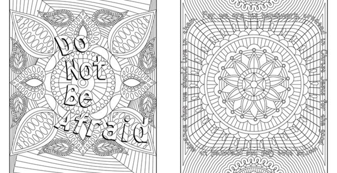 12 Page Adult Coloring Books With Positive Quotes