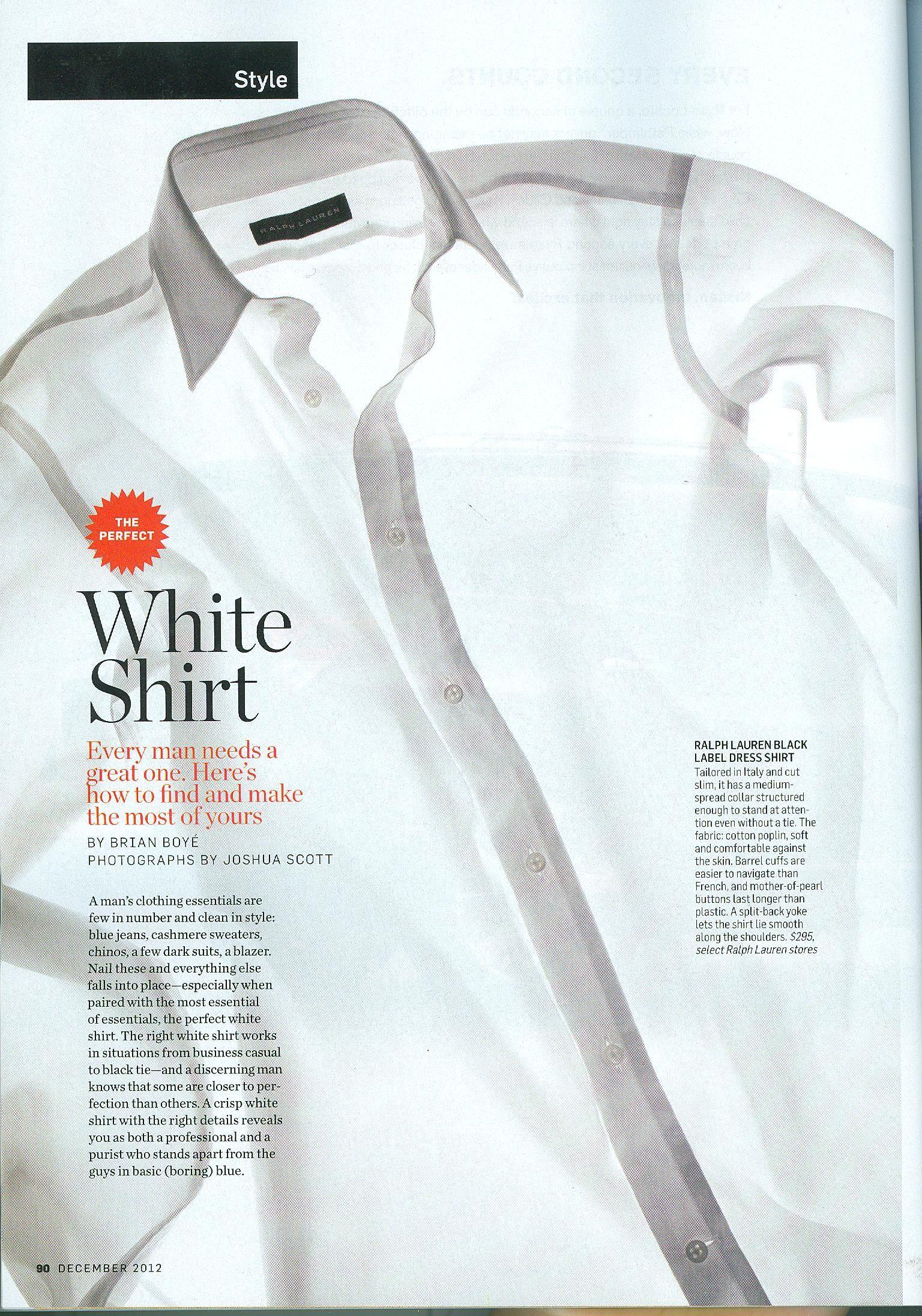 The Perfect White Shirt Ralph Lauren Black Label Dress Shirt