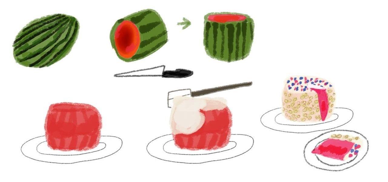 How to Make an Easy NoBake Watermelon Cake Watermelon