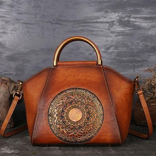 Photo of Classic Retro Pure Leather Handbag