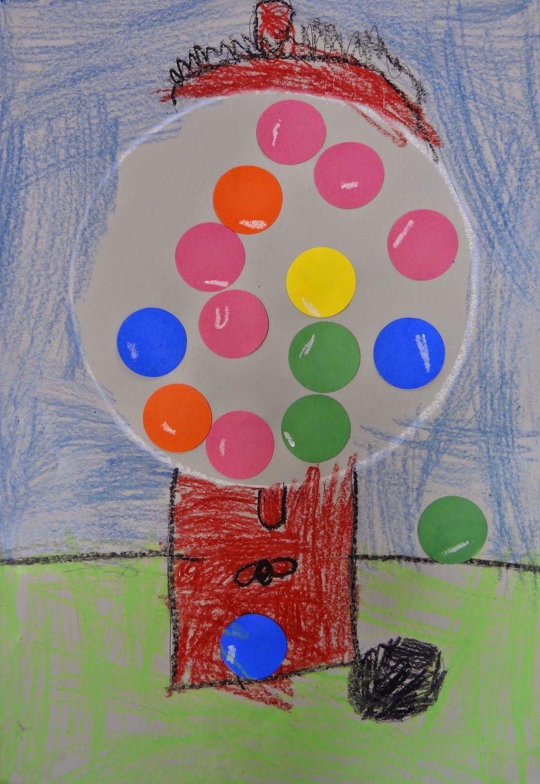 Art In The Big Green Room Kindergarten Bubblegum Machines