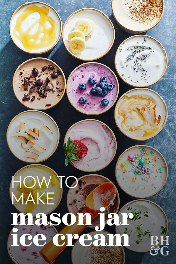 There's a trendy hack that uses a Mason jar to make homemade ice cream ready in just a few hours. We also have some amazing no-churn ice cream recipes that will rival anything you can buy. #masonjaricecream #homemadeicecream #icecreamrecipe #nochurn #bhg