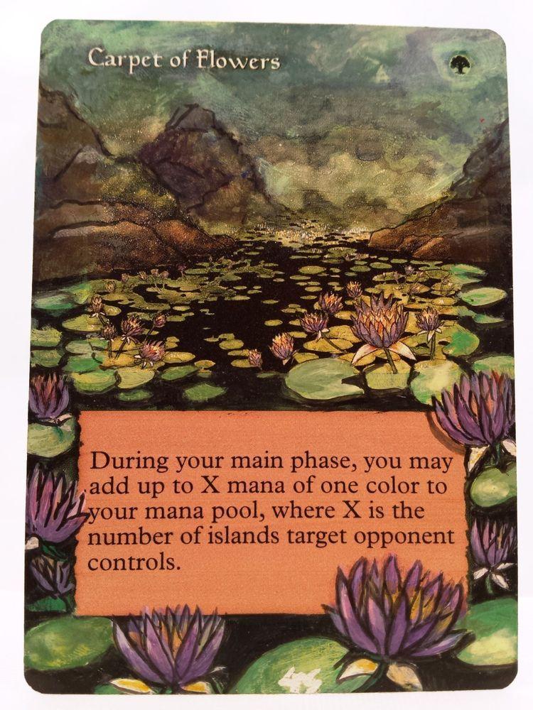Carpet of Flowers MTG Magic Altered Art Custom Hand ...