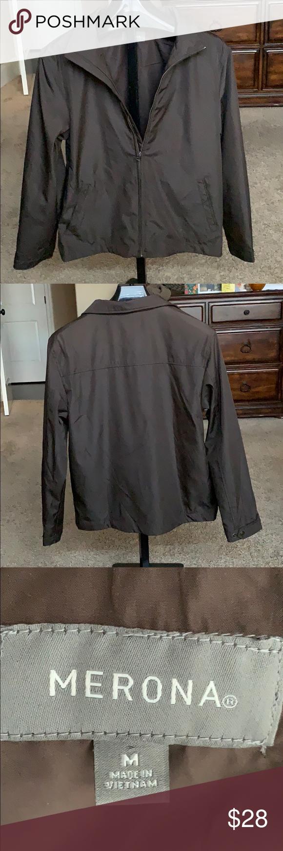 fa6f9bea3 Merona brown jacket Brown jacket by Merona. Excellent condition. Zip ...