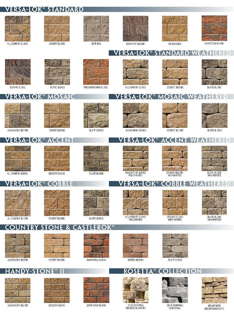 Versa Lok Retaining Wall Systems Color Selection In Western Pa Pittsburgh Retaining Wall Retaining Wall Bricks Garden Retaining Wall