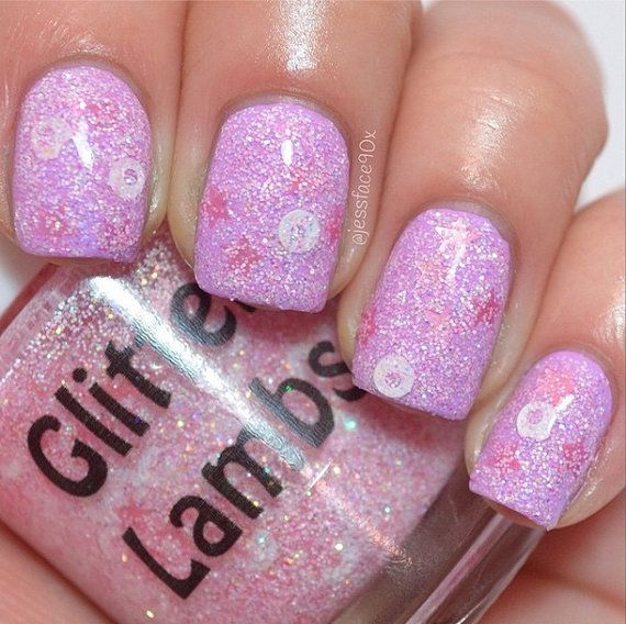 "Glitter Lambs ""Frosted Reindeer Food"": Christmas Glitter Topper Indie Nail Polish"