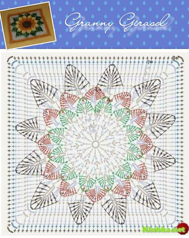 Granny girasol idea y patron | Craft Ideas | Pinterest | Granny ...