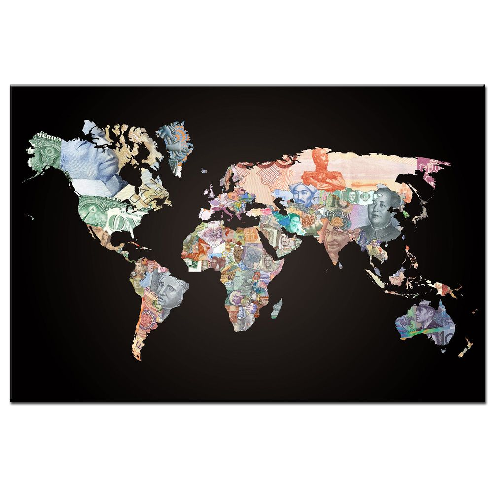 Stylish world map canvas painting for office decoration 2018 stylish world map canvas painting for office decoration 2018 gumiabroncs Choice Image