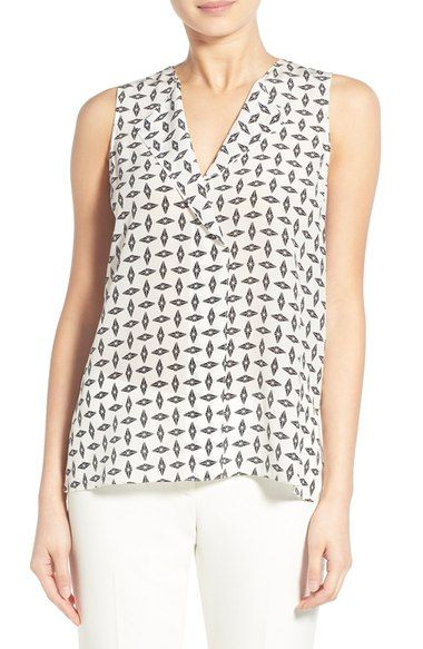 1c32d81699699 Trouvé V-Neck Sleeveless Silk Top available at  Nordstrom