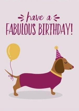 Happy Birthday Dachshund Greeting Cards | Zazzle |Weiner Dog Birthday Memes