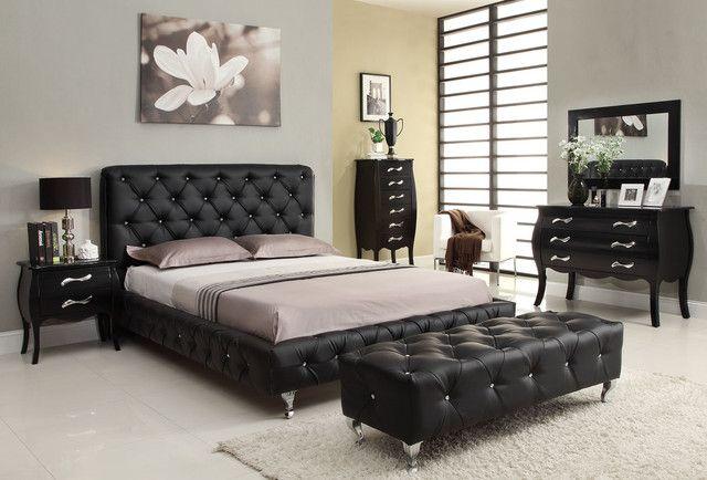 15 cool black bedroom furniture sets for bold feeling master rh pinterest com