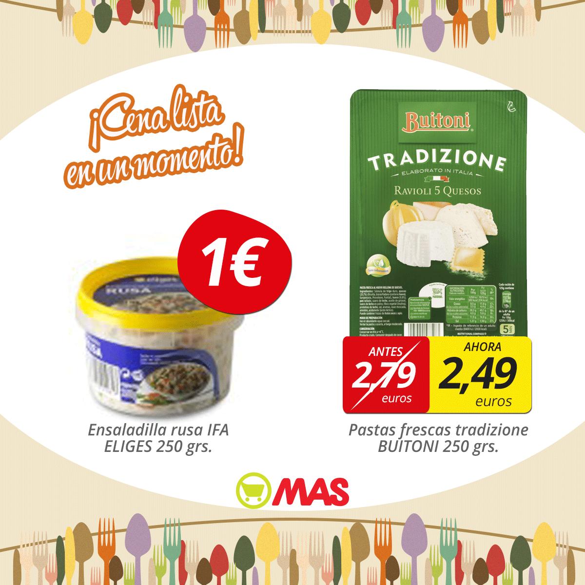 Hoy te preparamos la cena: ensaladilla rusa y pasta fresca! #Ofertas #CocinaRápida