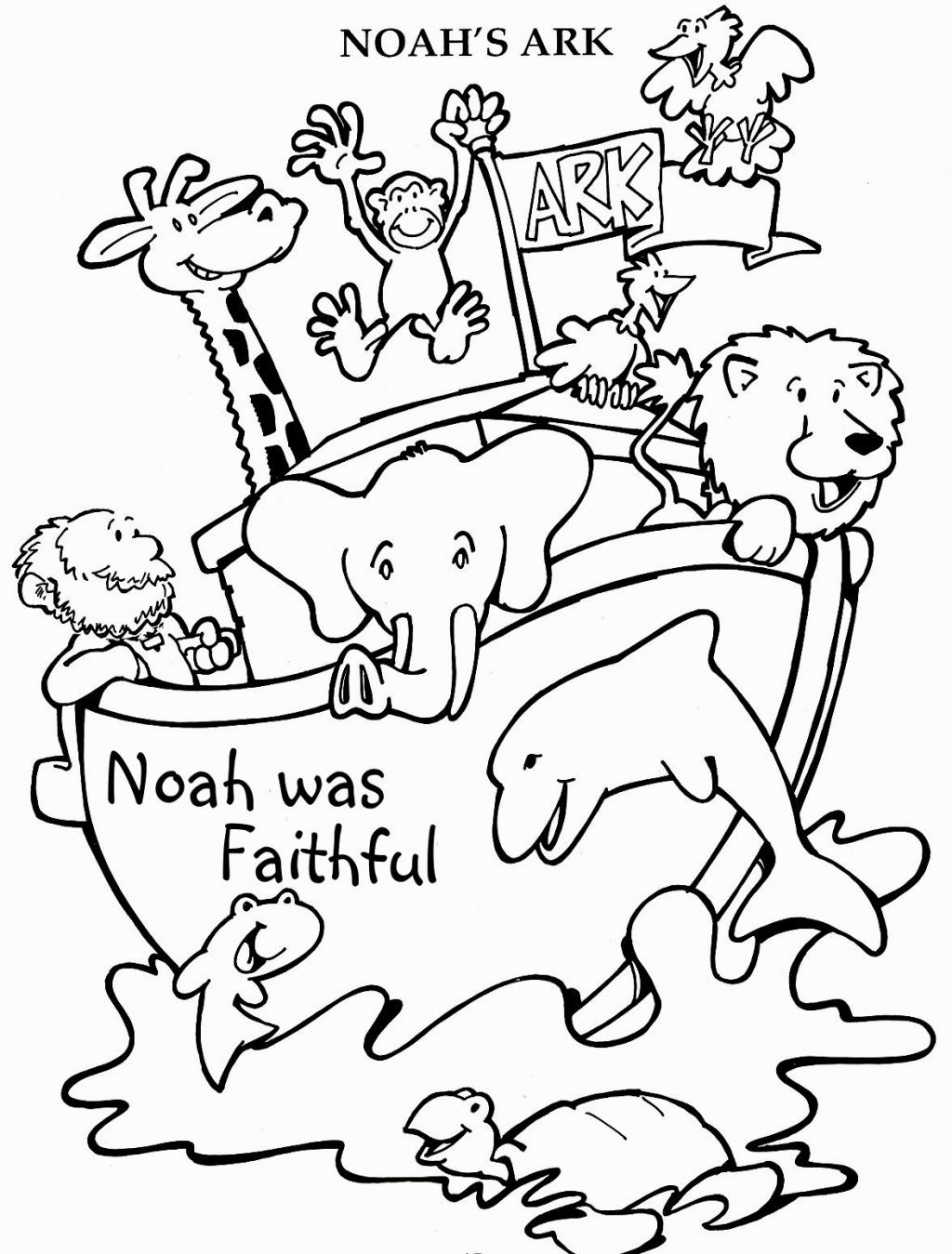 Noahs Ark Coloring Pages | Coloring Pages | Pinterest | Sunday ...