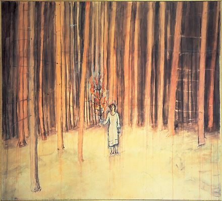 Anselm Kiefer Man in the Forest 1971