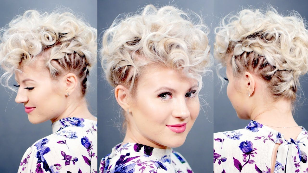 Creative Short Hairstyle Retro Faux Hawk Milabu Short Hair Tutorial Curly Hair Styles Short Hair Styles