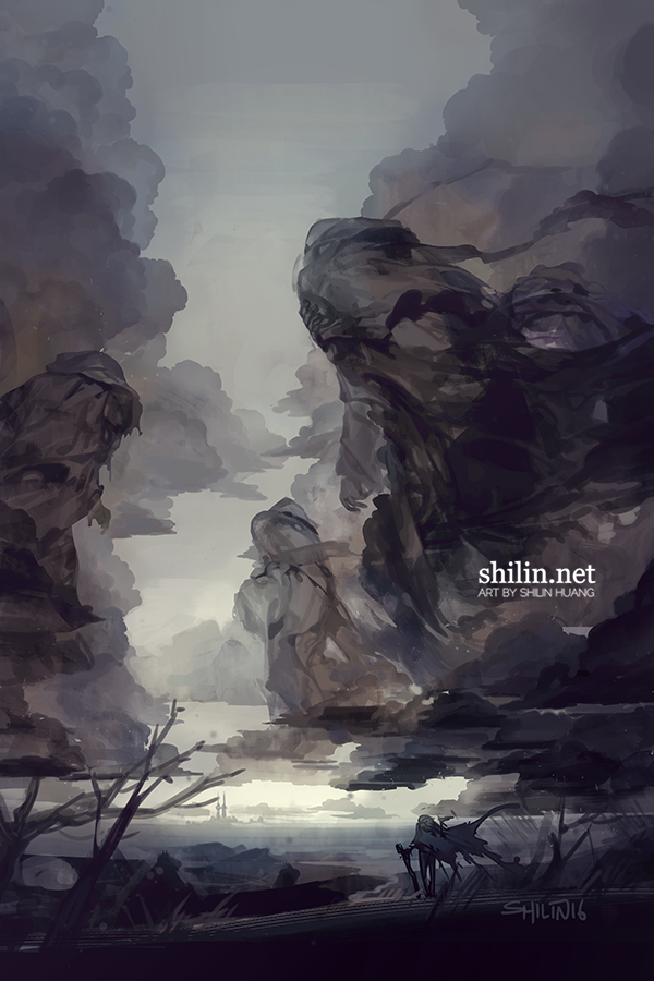Exile - rough piece for patreon by shilin.deviantart.com on @DeviantArt