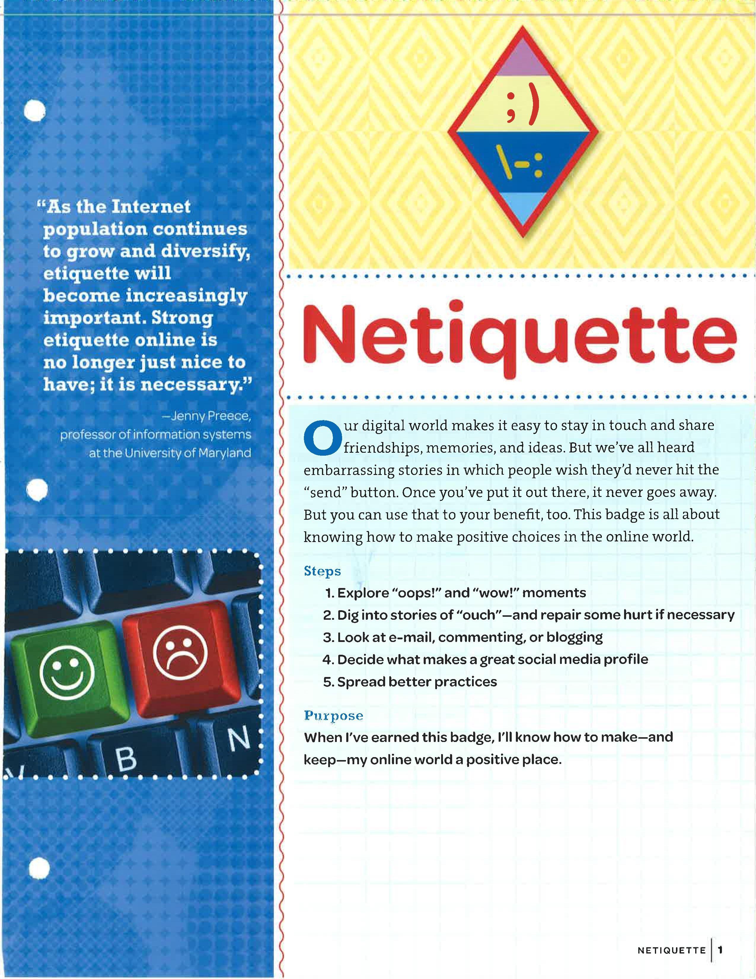 Netiquette Badge