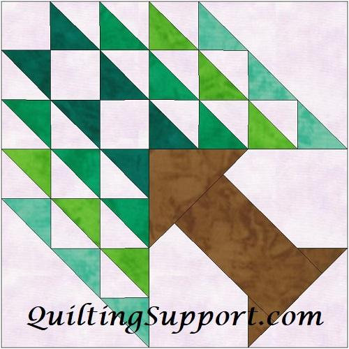Tree Of Paradise 15 Inch Paper Template Quilting Block