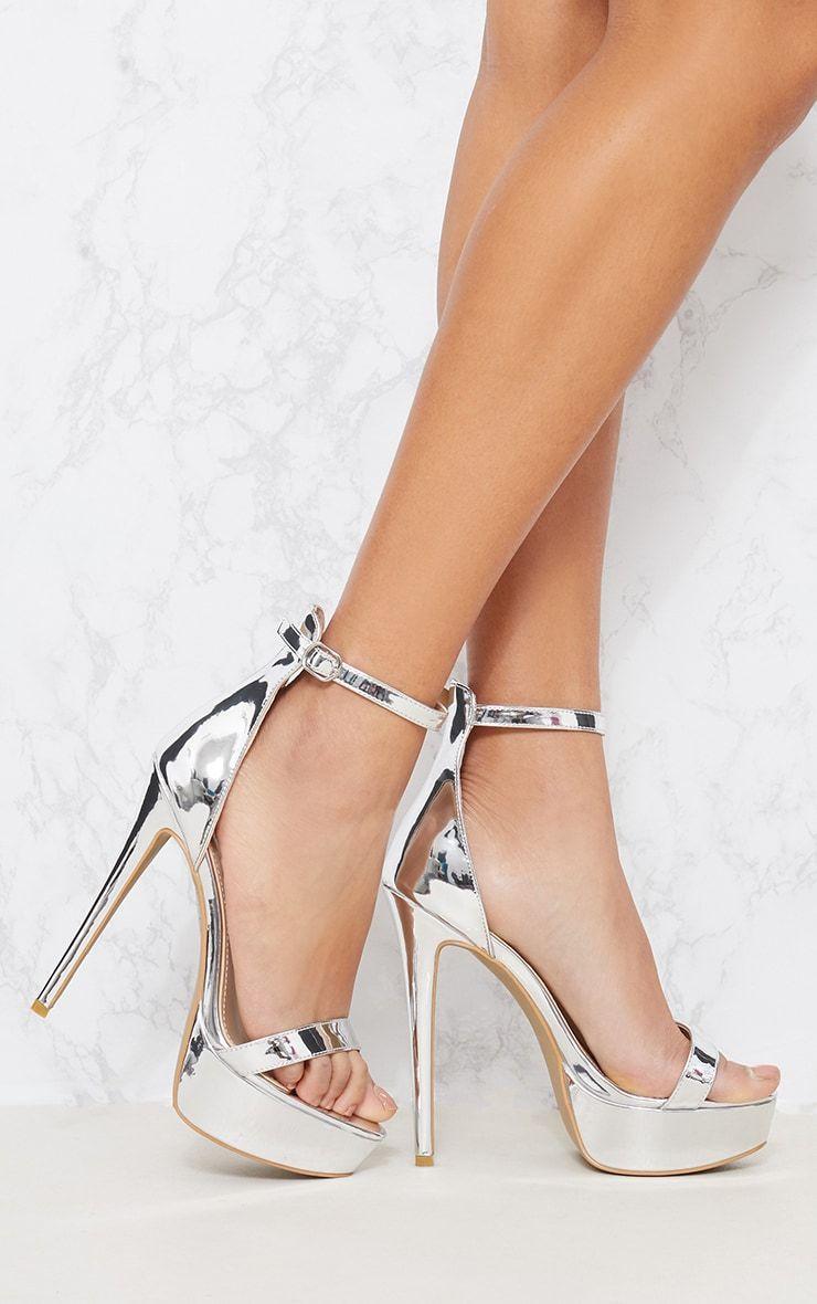 82d206bc757 Silver Metallic Platform Sandal
