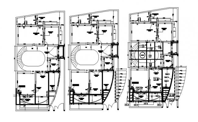 Ground floor electrical layout plan of the bungalow with