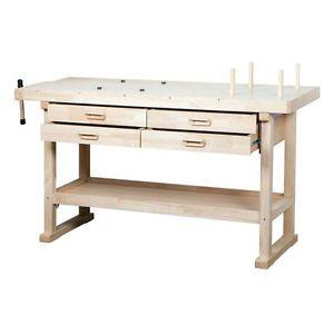 60 Hardwood Workbench 4 Drawers Working Surface Tool Storage Hobby Vice Storage Ebay Woodworking Workbench Wooden Work Bench Woodworking Table