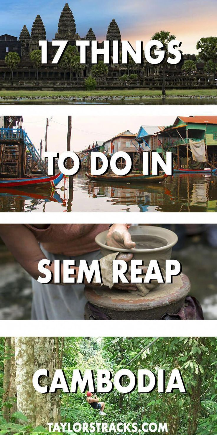 There are so many things to do in Siem Reap that are more than just temples. Click to check out this list of the must-dos and alternative options in Siem Reap, Cambodia. #cambodia #siemreap ***** Siem -- Tanks that Get Around is an online store offering a selection of funny travel clothes for world explorers. Check out www.tanksthatgetaround.com for funny travel tank tops and more travel destination guides!