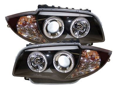 Bmw 1 Series E81 E82 E87 E88 Front Projector Headlights Black Angel Eyes View More On The Link Http Www Zeppy Io P Angel Eye Headlights Bmw 1 Series Bmw