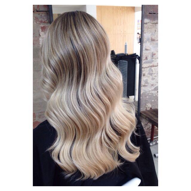 Blonde highlights #blonde #coolblonde #wavyhair #hairbylaurenm #edwardsandco