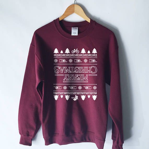 Stranger Things Ugly Christmas Sweater.Stranger Things Ugly Christmas Sweater The Upside Down
