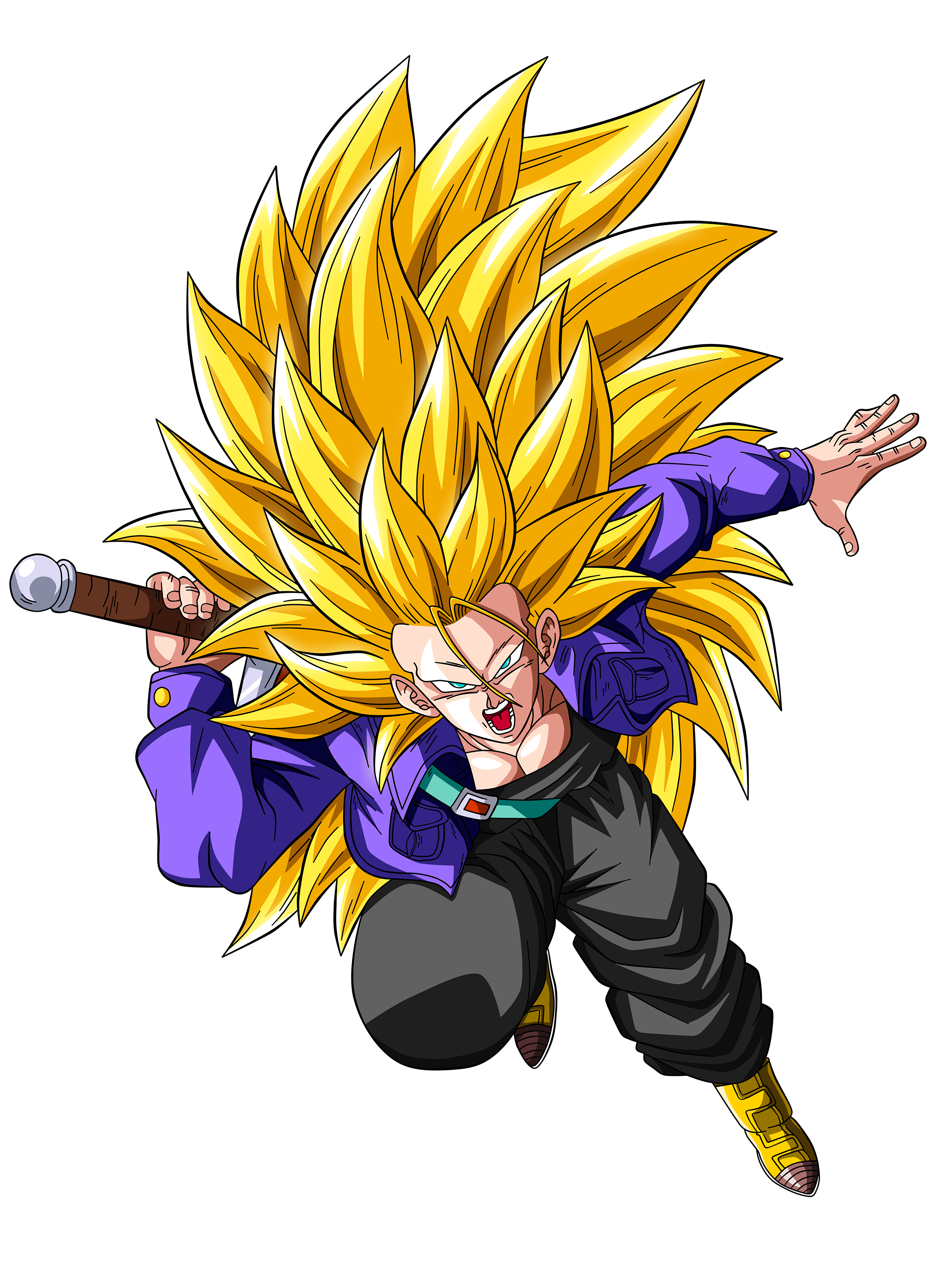 Trunks Super Saiyan 3 By Originalsupersaiyan On Deviantart Dragon Ball Super Wallpapers Dragon Ball Super Manga Dragon Ball Art