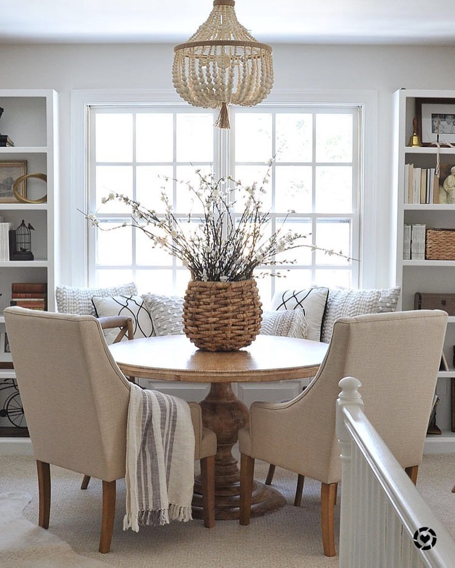 Room Ideas Love The Small Dining Table Setup Organic And Pretty