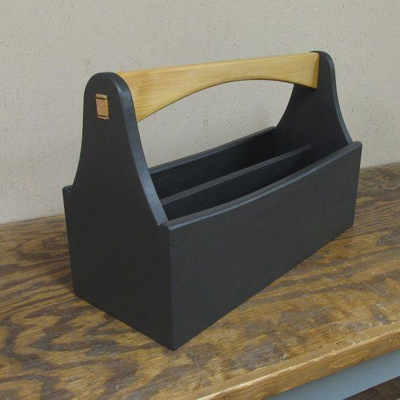 Retro Style Tool Box Tool Caddy Garden Tote Tool By Smithwick Co Llc Wood Tool Box Tool Tote Tool Box Diy
