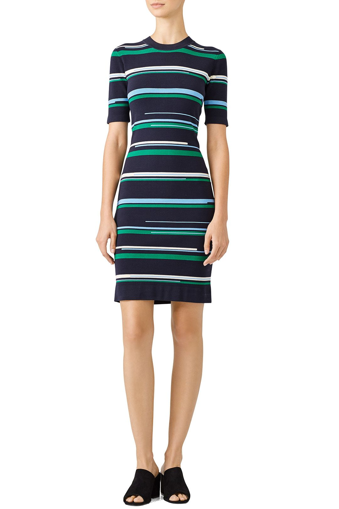 Stripe Knit Dress In 2021 Striped Knit Dress Knit Dress Striped Knit [ 1500 x 1000 Pixel ]