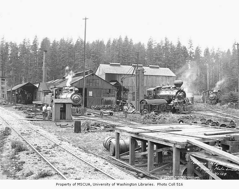 Polson logging Headquarters known as the Railroad camp