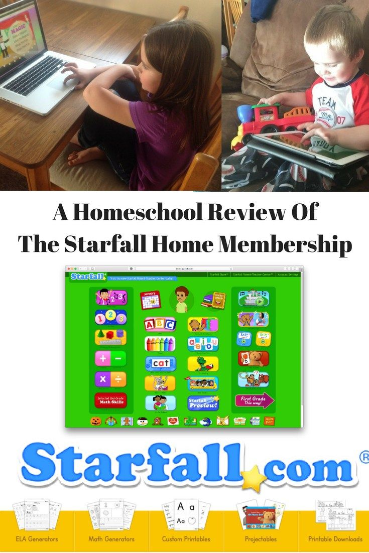 The Starfall Home Membership A Homeschool Review (With