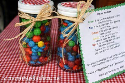 You're My M {Teacher Appreciation Gift} & More Ideas