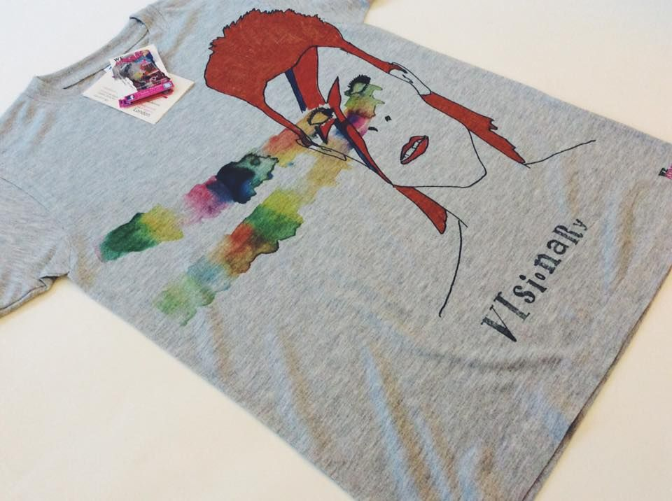 Celebrate David Bowie wearing our Visionary T-Shirt by Daniel Davidson