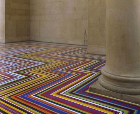 Charming SPOTLIGHT: Stunning Geometric Tape Floor Installations By Jim Lambie With  Regular Vinyl Tape, Glasgow Based Artist Jim Lambie Transforms Any Given  Space ...