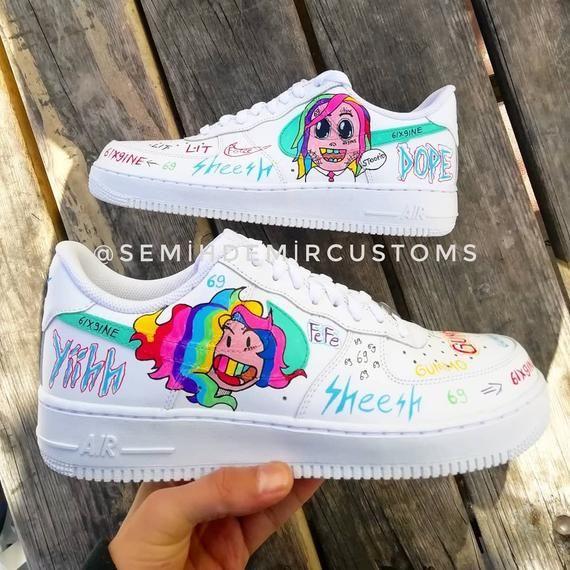 Custom Nike Air force 1 6ix9ine custom sneakers , custom